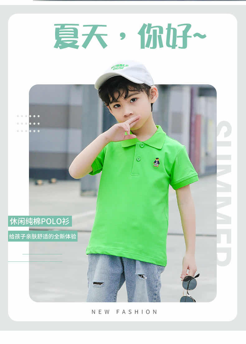 2020 camiseta POLO de algodón casual de verano para niños