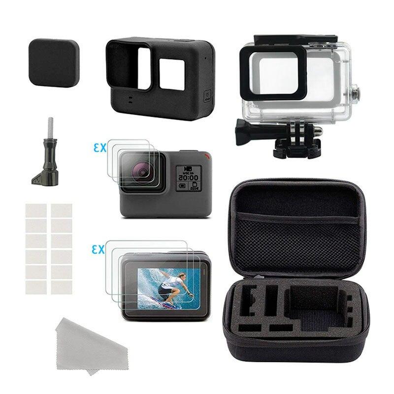 Комплект аксессуаров для спортивной экшн-камеры для GoPro Hero 8 7 6 5 4 3 Black Xiaomi Yi 4K SJCAM SJ8 Pro M20 Eken H9 Go Pro Mount