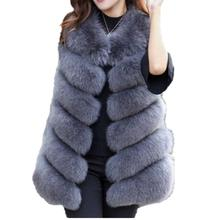 Lisa Colly New Arrival Winter Warm Fashion Women Import Coat jacket Fur Vest High-Grade Faux Fur Coa