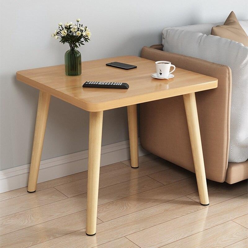 Журнальный столик для дома в квартиру, боковой столик, мебель для спальни, низкие столы, скандинавский однотонный деревянный диван, боковой ...