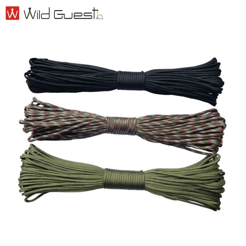 Dia.4mm 7 Stand Cores Paracord for Survival Parachute Cord Lanyard Camping Climbing Rope Hiking Clothesline 5 meters dia 4mm 7 stand cores paracord for survival parachute cord lanyard camping climbing camping rope hiking clothesline