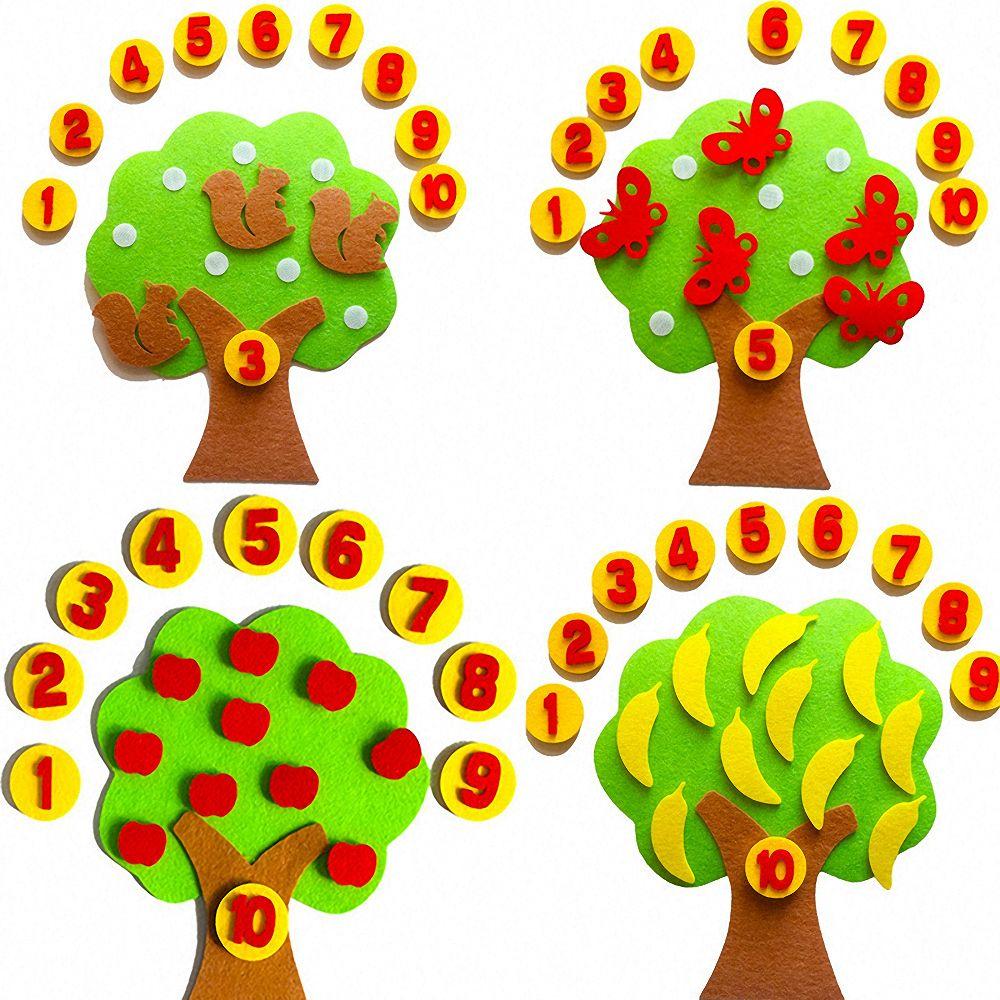 Montessori Lernen Spielzeug Material DIY Weben Tuch Apple Baum Educational Math Spielzeug Kinder Früh Math Arithmetik Manuelle Lehrmittel