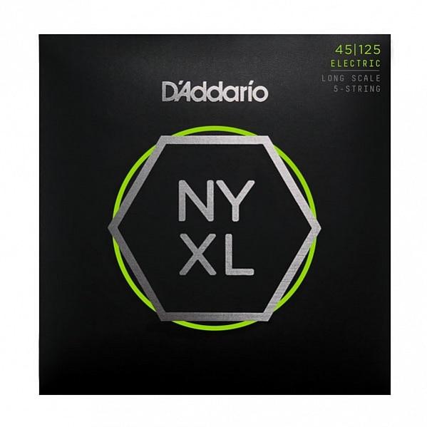 Conjunto de cuerda Nyxl45125 para 5 cuerdas de bajo, Lt top/Med BTM, 45-125, DAddario