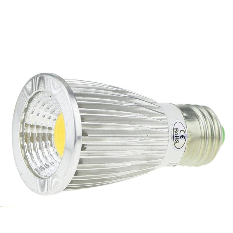 10pcs lot mr16 led spot light glass body ac dc12v 5w dimmable cob led spotlight bulb warm white cold white LED Bombilla Spotlight Bulb E27 Light Dimmable cool white warm white AC110V 220V 3W 5W 7W LED GU10 COB LED ceiling lamp light