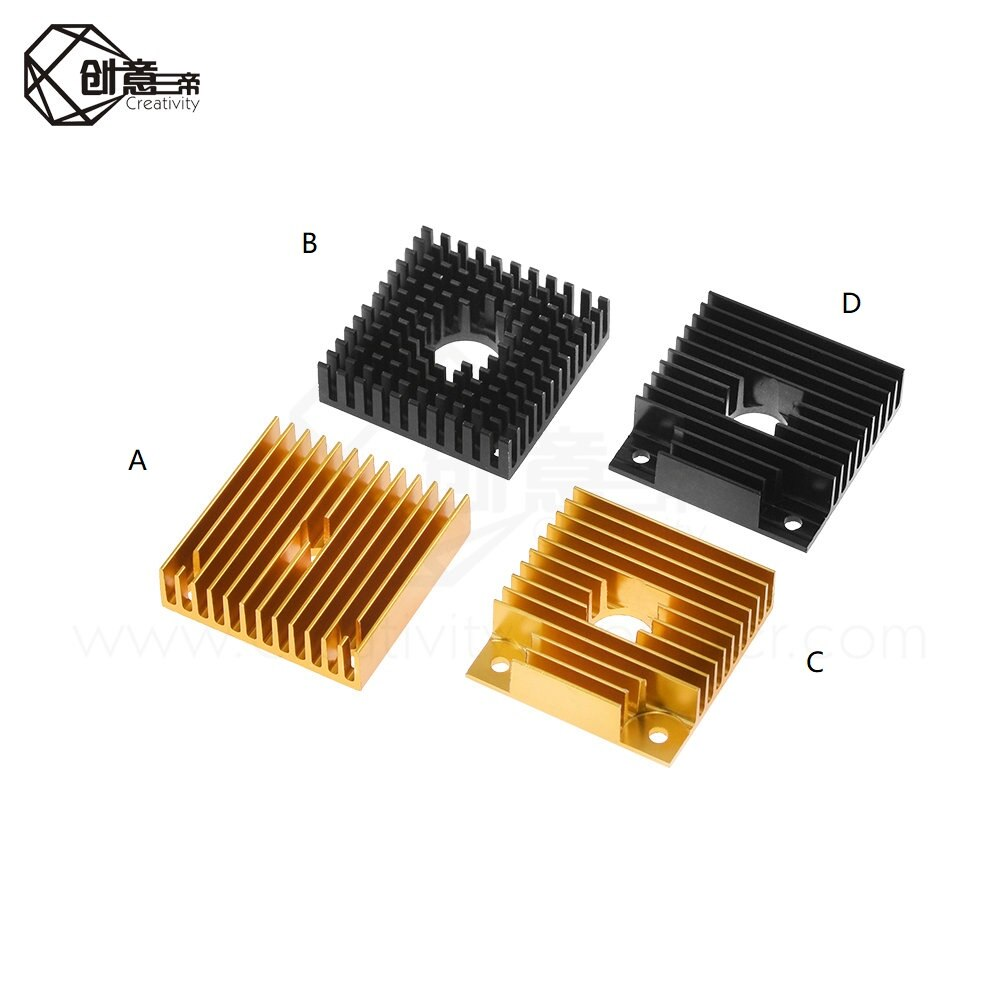 3d printer heat sink MK7 MK8 extruder aluminum block 40x40x11 mm for MK7 extruder MK7/8 multi-slot heat sink 40*10mm Heatsink