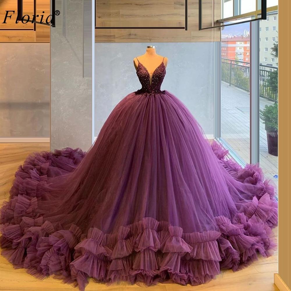Purple Ball Gown Quinceanera Dresses 2020 Beading Dress For Quinceanera Sweet 16 Dresses Vestido De 15 Anos Robe De Bal Custom