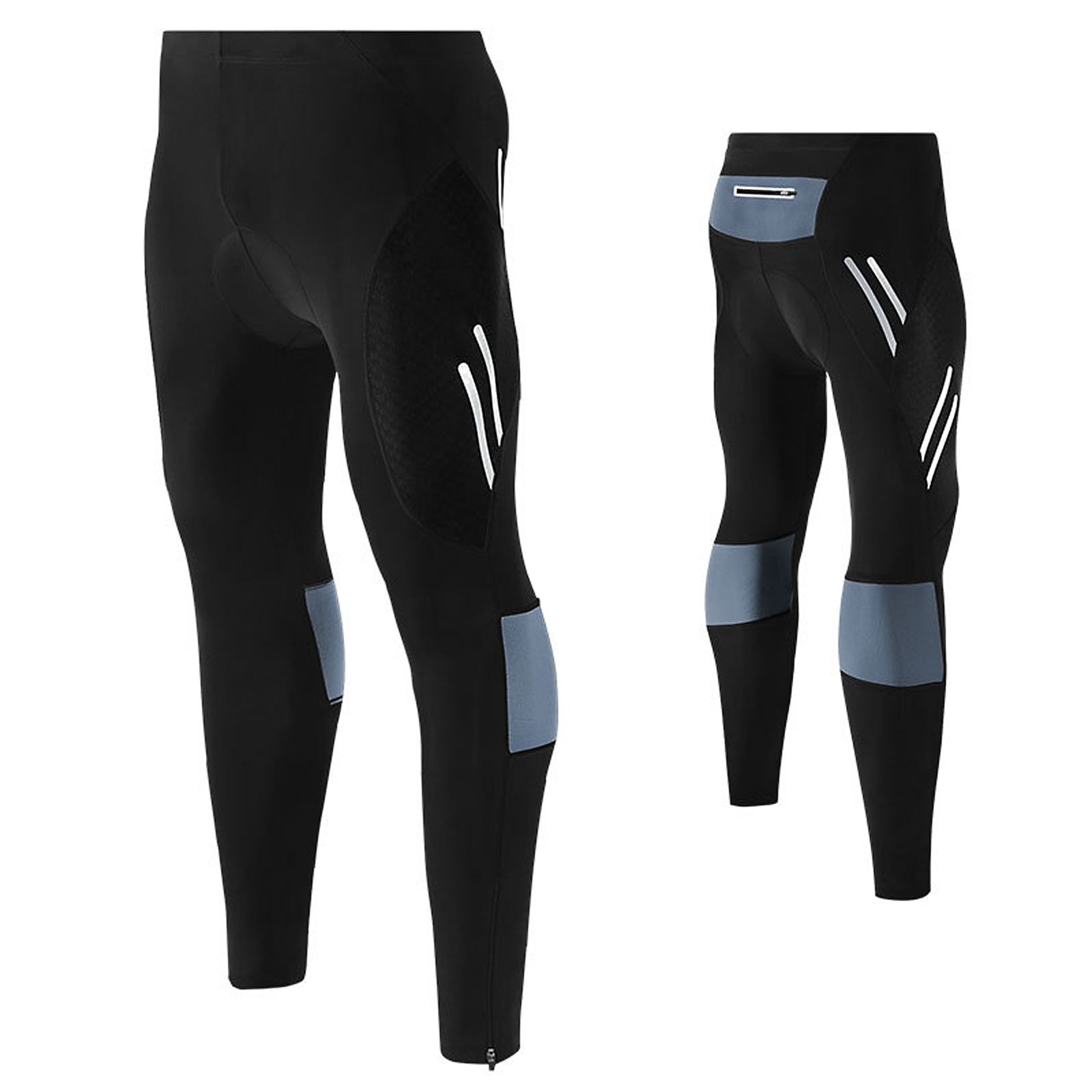 Men's Cycling Bike Pants 4D Padded Long Bicycle Compression Tights Breathable Trousers siilenyond 100% lycra cycling tights mountain bicycle pants coolmax 3d gel padded cycling tight mtb bicycle pants bike trousers