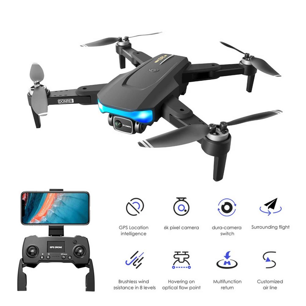 LS38 GPS Drone EIS 6K Dual HD Camera Professional Aerial WIFI FPV Brushless Motor RC Foldable Quadcopter Remote Distance 1000M