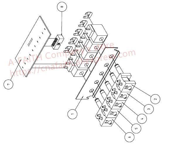 Original becderman ACT 5DIFF ABX Pentra 60, Pentra 80 P80 P60 hematology analizador valvula, líquido, conjunto de 5 válvulas (27-31) XDB127A