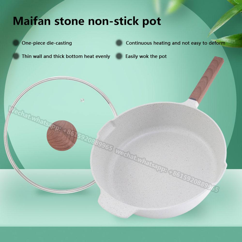 frying pan Maifan Stone Frying Pan Household Non-stick Frying Pan Induction Cooker Flat-bottom Frying Pan Maifan Stone Non-stick Frying Pan