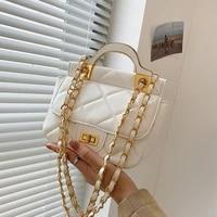 womens bag 2021 new simple fashion retro rhombic lattice embroidered thread portable single shoulder messenger chain bag
