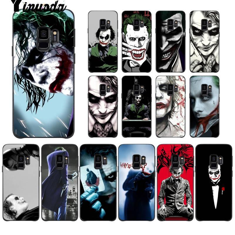 Batman caballero oscuro Joker Karta Marvel DC suave silicona negro Funda de teléfono para Samsung galays8 S7 edge S6 edge plus S10 S9