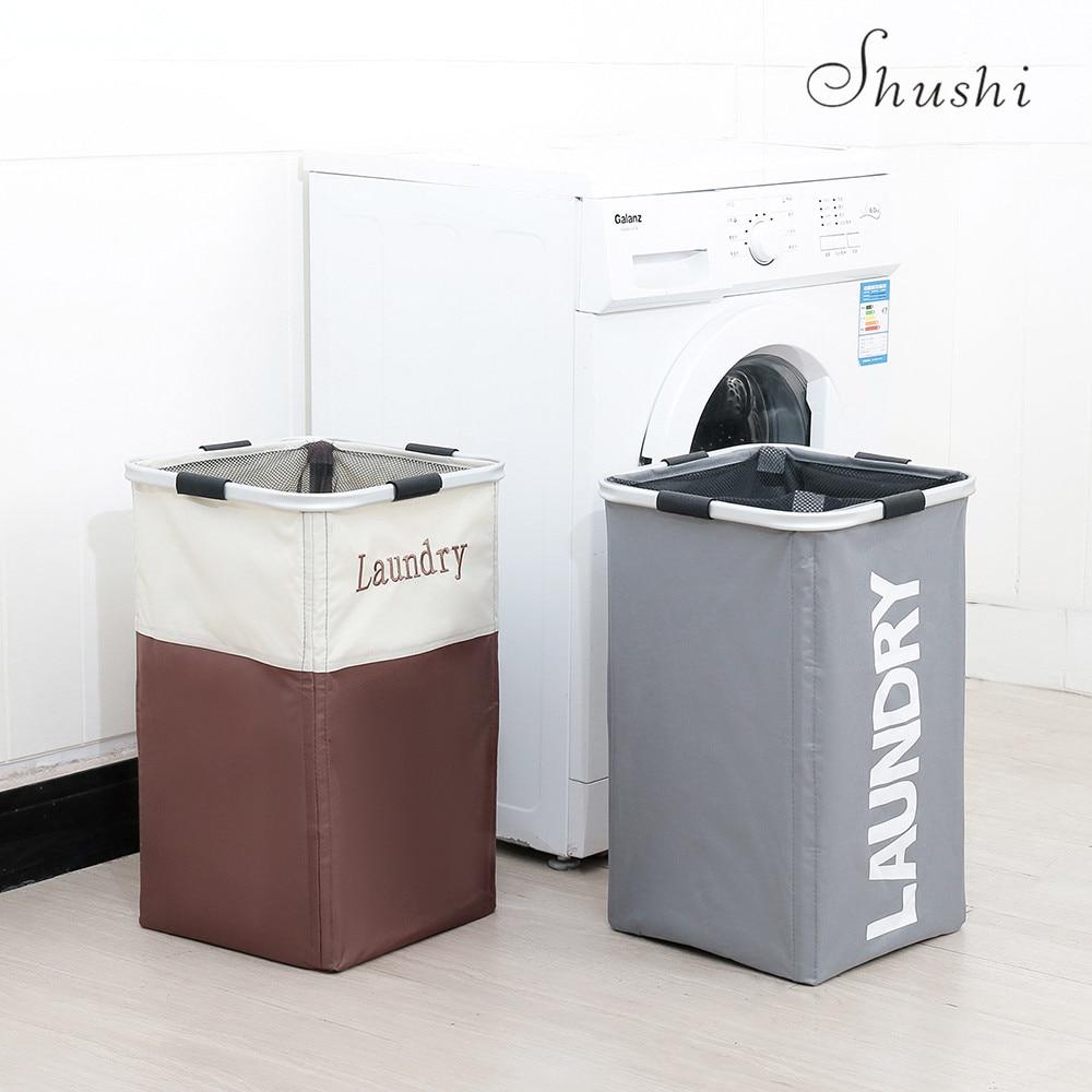 Shushi hotselling dobrável cesta de lavanderia grande pano sujo armazenamento saco de lavanderia panier um linge à prova de água lavanderia cesto balde