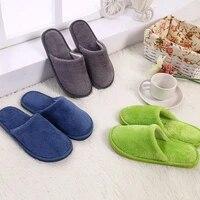 women men new candy color winter warm couple pvc home guest indoor cotton floor slippers indoor flip flops women bedroom shoes