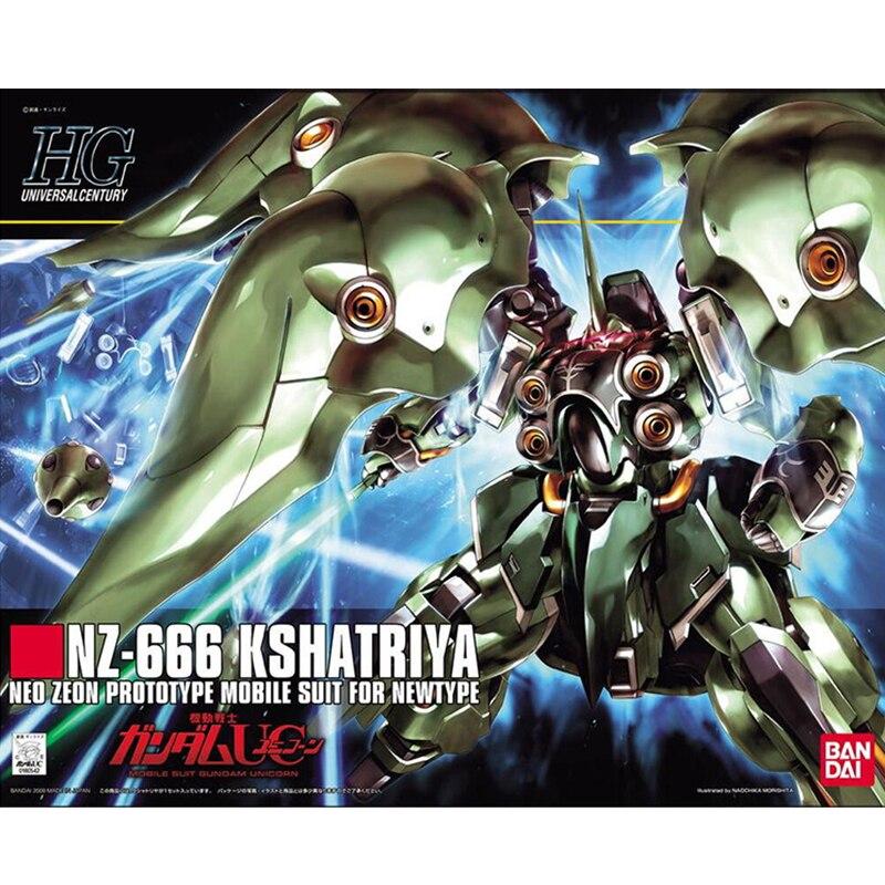 Bandai Gundam HGUC 099 1/144 Kshatriya Gundam Unicorn Series Assembly Action Figureals Brinquedos Model