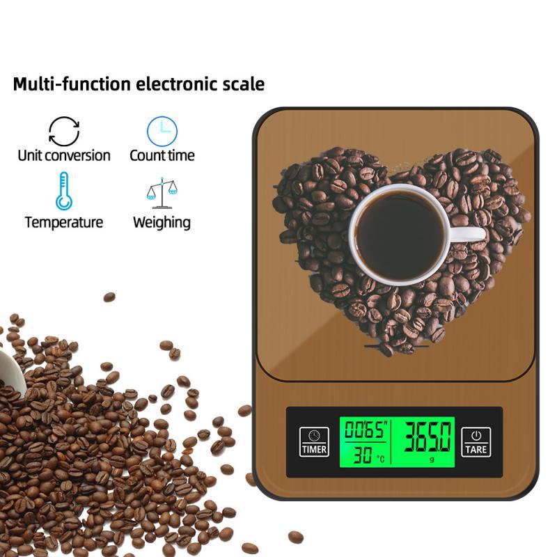 اليد -- صنع القهوة ميزان إلكتروني حبوب البن وزنها توقيت شاشة LED عالية الدقة LCD ميزان إلكتروني 2021 حار مبيعات