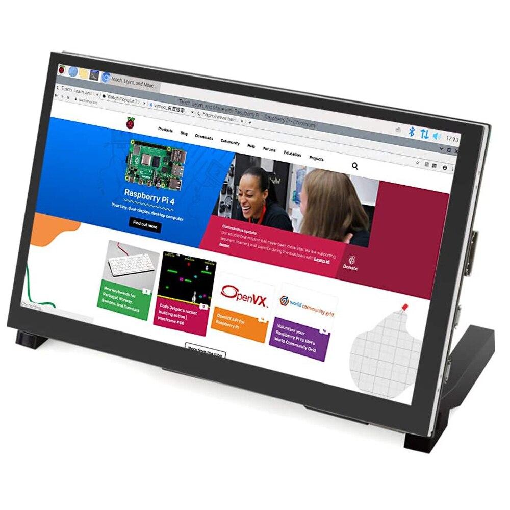 Raspberry Pi 4 شاشة لمس 7 بوصة ، IPS HD ، 1024 × 600 بكسل ، شاشة سعوية لـ Raspberry Pi 4B 3B 3B jetan Nano PC Windows