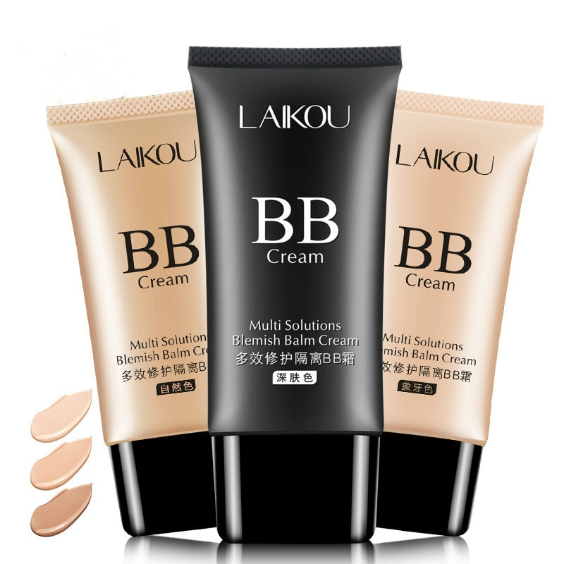 Laikou брендовый 3 вида цветов, натуральный безупречный BB крем для макияжа, консилер с контролем жирности, жидкая косметика/основа Увлажняющая ...
