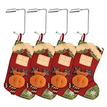4PCS Safety Hang Grip Holders Hooks For Christmas Stocking Gift Bag Home Holiday Xmas Party Decorati