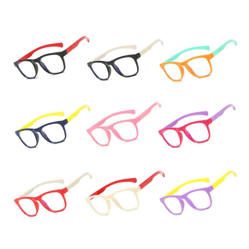 Children Anti-blue Light Silicone Goggles Eyewear Optical Glasses Flexible Bendable Eyeglasses Girls