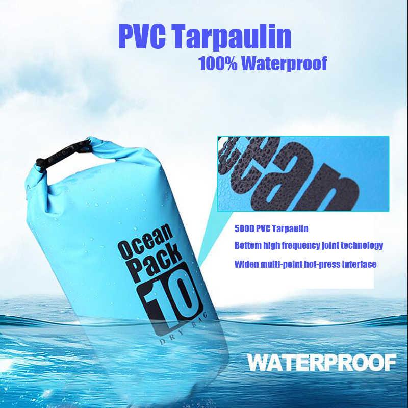 Pvc 5l 10l 20l Outdoor Diving Compression Storage Waterproof Bag Dry Bag For Man Women Swimming Rafting Kayak Swimming Bags Aliexpress