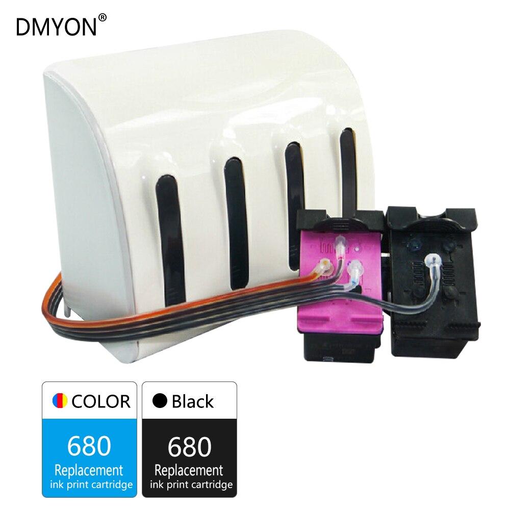 DMYON 680 CISS tinta a granel Compatible para Hp 680 Deskjet serie 2135, 2136, 2138, 3635, 3636, 3835, 4535, 4536, 4538, 4675, 4676, 4678 impresora