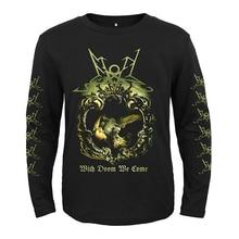 5 designs Summoning band Punk Rock rocker men women full long sleeves shirt heavy metal black tee fitness