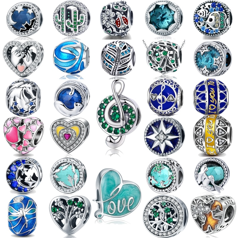 Super Low Price Sale Jiayiqi 925 Sterling Silver Beads Charm For Women DIY Bracelets & Necklaces Hig