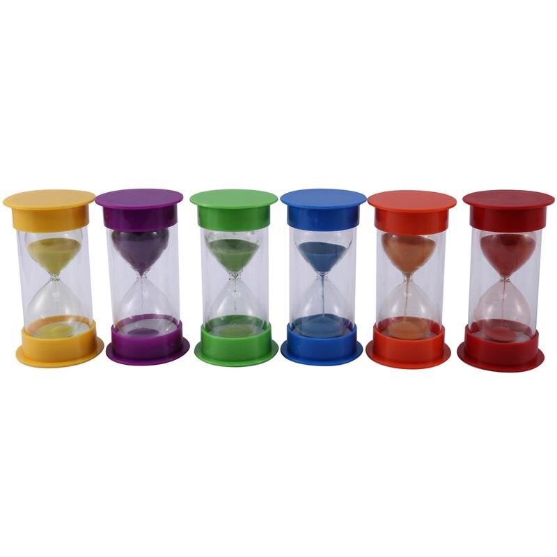 Temporizador de arena, temporizador de reloj de arena acrílico, temporizador de reloj de arena colorido, temporizador de reloj de arena para juegos, aula, hogar