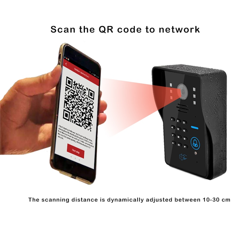 WiFi IP Camera Video Doorbell 720P Camera Night Vision with RFID and Face Recognition unlock electric lock enlarge