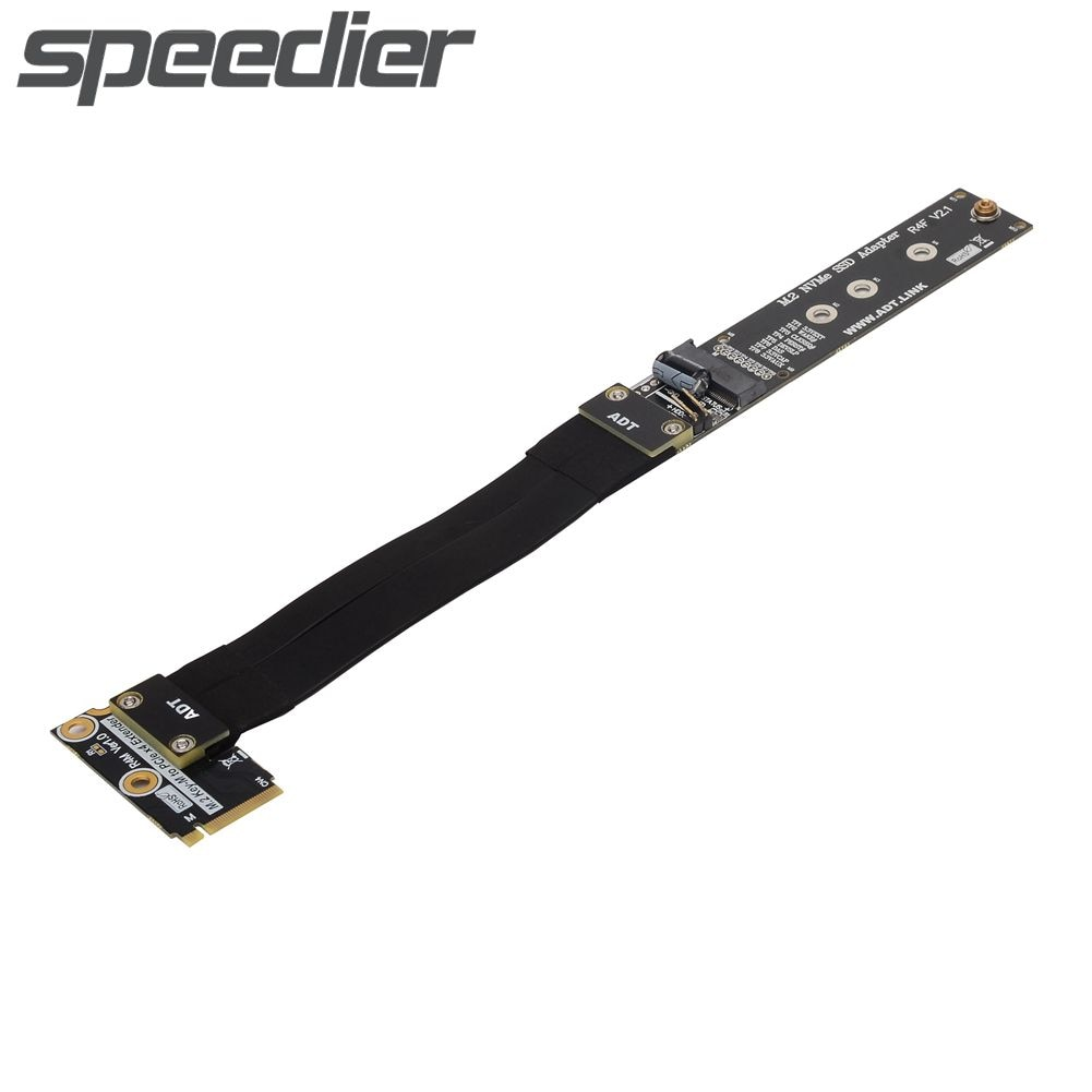 M.2 NVME SSD كابل تمديد مسطح يدعم PCIe 3.0x4 عالي السرعة ناقل الحركة من 2230 إلى 2280 محول بطاقة رايزر M.2 M-مفتاح موسع