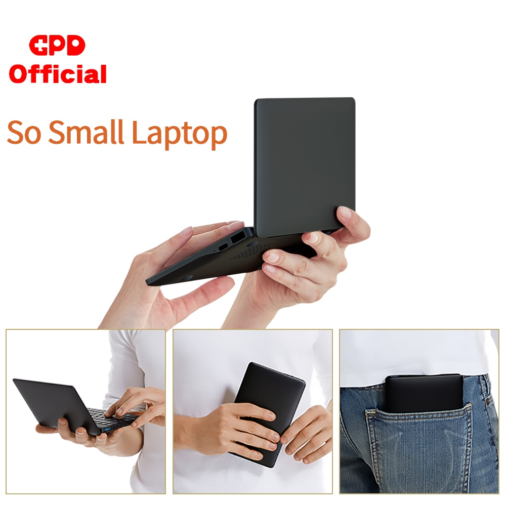Latest Pocket Slim Laptop Ultrabook GPD Pocket 2 8GB+256GB 7 Inch Mini PC Computer Netbook Notebook
