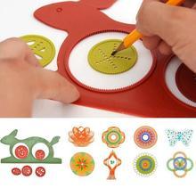 Newest Spirograph Magic Turtle Rabbit Sketchpad Drawing Board Educational Toys Mat Magic Pen Educati