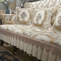 retro chenille lace sofa cover 1 2 3 seater floral leather couch slipcover protector armrest chair cover anti slip european