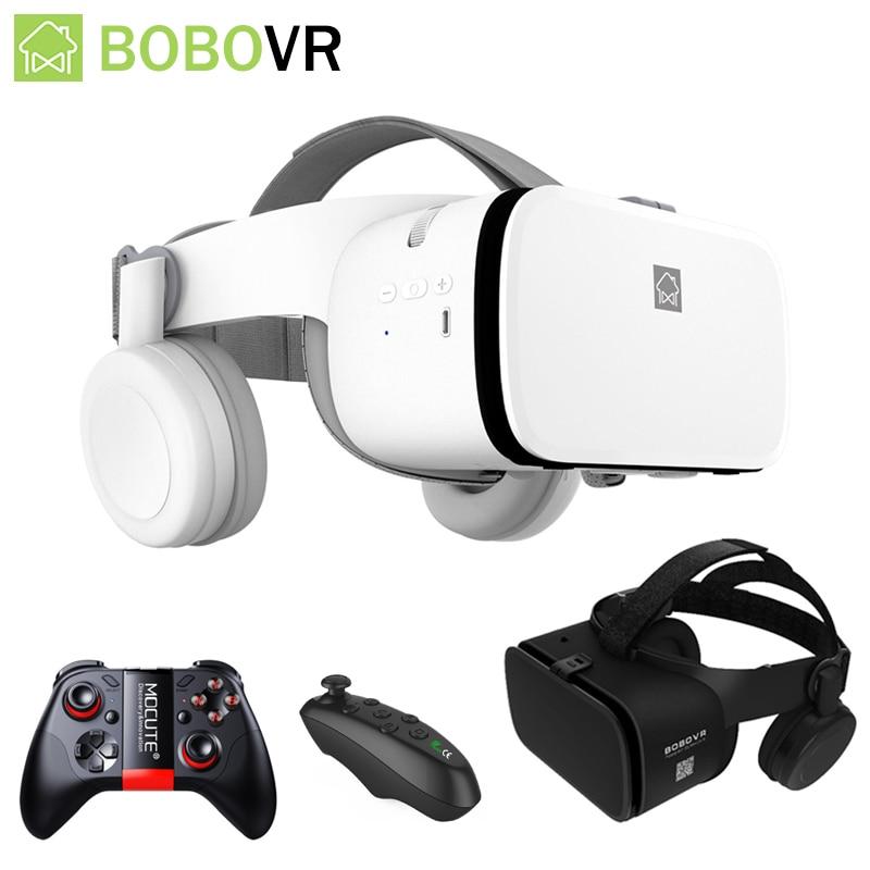 Bobo VR Z6 Smart 3D Casque Viar Bluetooth 3D Glasses Virtual Reality Headset Helmet Goggles Lenses for Phone Smartphone 4.7-6.2'