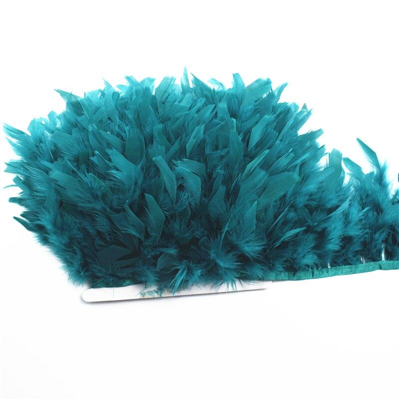 2 jardas/lote turquia pena franja fita 5-6 polegada chandelle marabou turquia penas guarnição saia vestido plumas decoração plumas diy