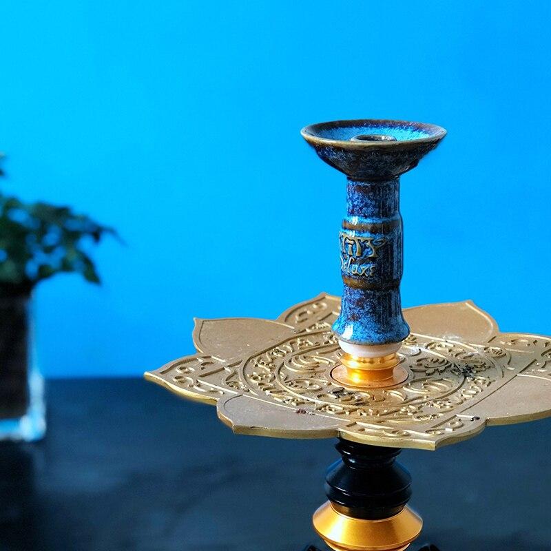 Miska na fajki wodne cybuch do shishy ceramiczna fajka wodna miska z Caloud uchwyt na węgiel drzewny do szisza Chicha Narguile akcesoria