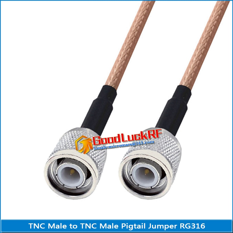 1x pcs q9 bnc male to rp sma male plug pigtail jumper rg316 extend cable rf connector q9 to rp sma rpsma dual male low loss 1X Pcs Dual TNC Male to TNC Male plug Pigtail Jumper RG316 Extend cable copper RF Connector Coaxial Low Loss