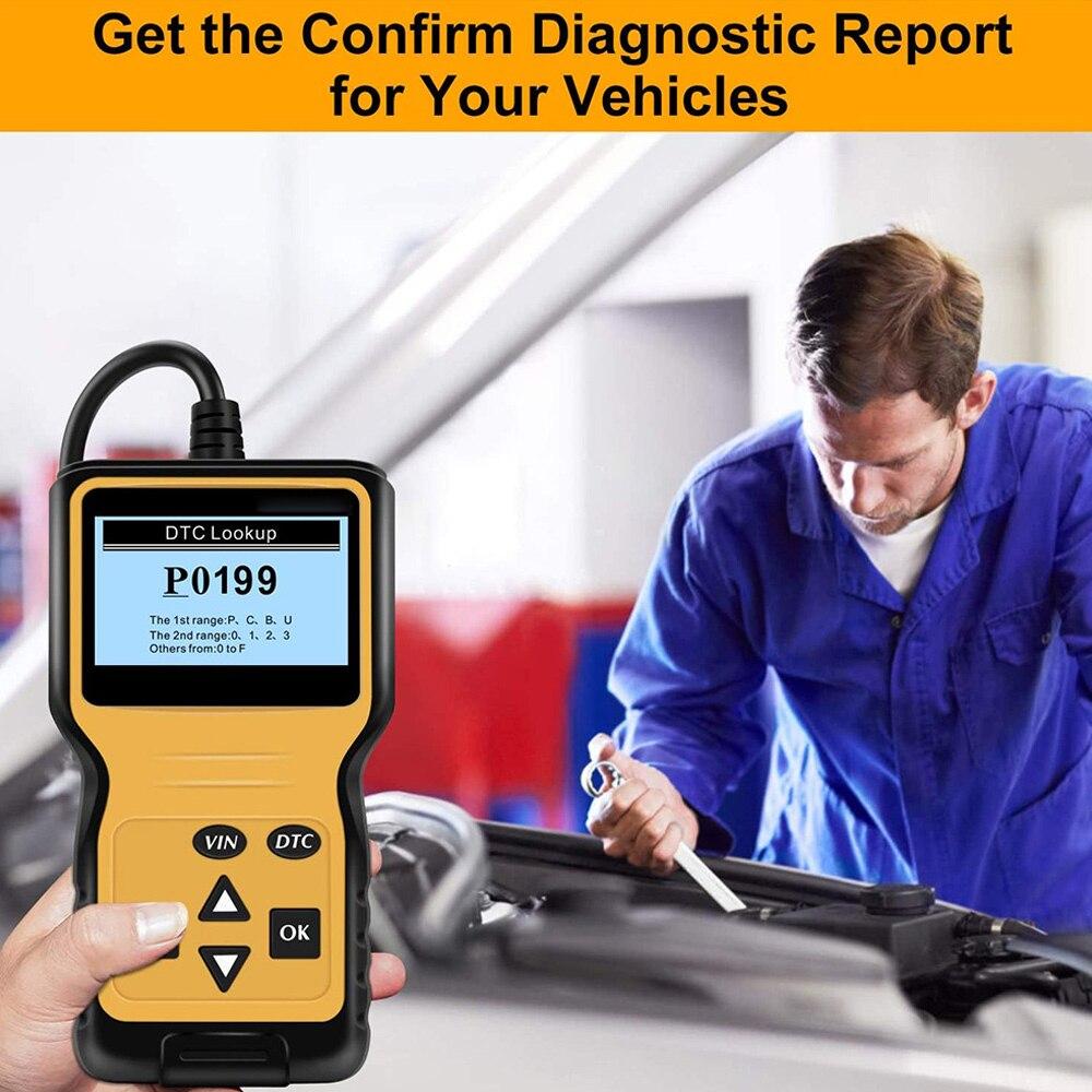 Автомобильный сканер OBD2 считыватель кодов Автомобильный сканер OBD 2 Автомобильный диагностический инструмент считывает код неисправности ...
