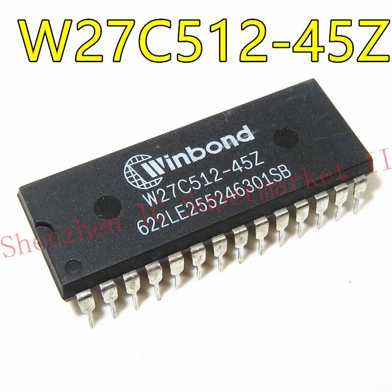 1 unids/lote W27C512-45 W27C512-45Z 27C512 DIP-28 en Stock