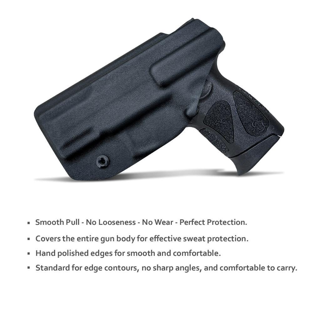 IWB Kydex pistol toc personalizat: Taurus G2C 9mm și Millennium - Vânătoare - Fotografie 3