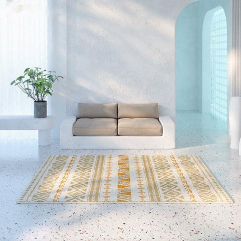 الشمال الأصفر السجاد و البساط لغرفة المعيشة الحديثة بسيطة كبيرة غرفة نوم مركز البساط هندسية صالون منطقة البساط عدم الانزلاق قابل للغسل