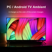 1/2/3/4/5m Ambient TV LED Strips USB Full Set Led Light Tape HDTV Computer Dream Color Sync with Scr