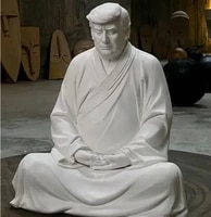 trump buddha statue of trump donald resin make your company great again ever donald president buddha of the west home decoration