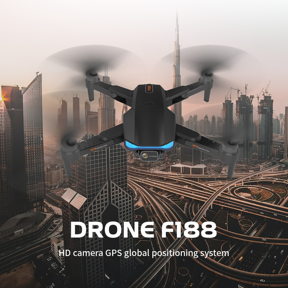 New F188 GPS Drone 6K Wifi FPV HD Camera 2-Axis Anti-Shake Gimbal Professional Brushless Foldable RC Quadcopter Distance 1000m enlarge