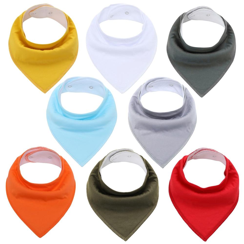 Бандана нагрудники Soild 8 Упаковка нагрудники унисекс для новорожденных мальчиков и девочек для прорезывания зубов и Слюни Детские нагрудни...