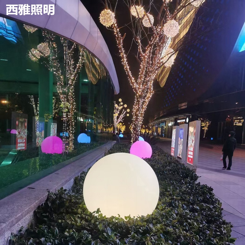 50cm Moon Lawn Lamp 12-24V Remote Control RGB Waterproof LED Ball Light Outdoor Christmas Wedding Party Garden Lawn Lamp Ball enlarge