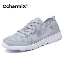 CcharmiX amoureux chaussures 2020 été Sneaker en gros respirant léger maille Tenis chaussures pour hommes décontracté adolescent chaussures grande taille