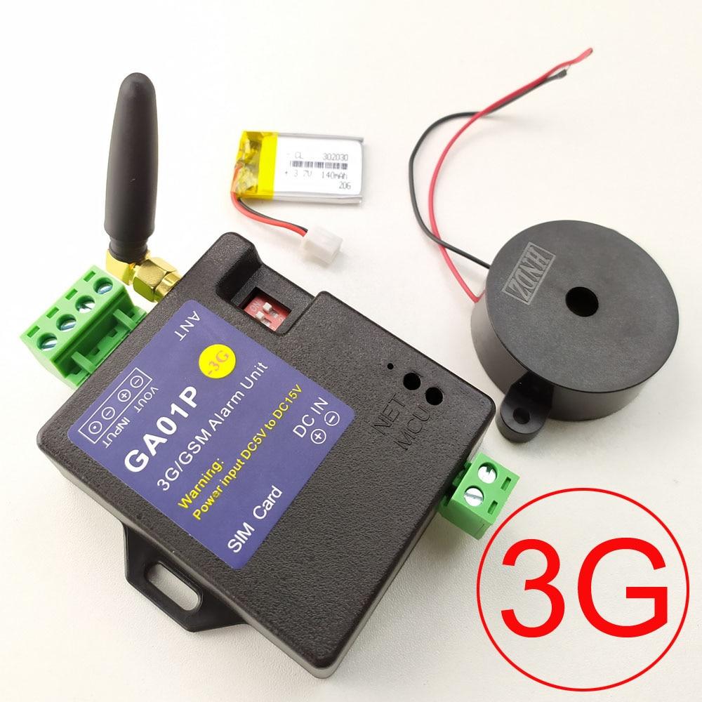 GA01P-نظام إنذار minil GSM ، إصدار 3G ، شحن مجاني ، إنذار SMS ، بطارية قابلة لإعادة الشحن للتنبيه في انقطاع التيار الكهربائي