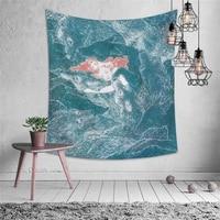 imixlot tapestry blue series sea beach picnic mat home wall hanging decoration tapestry carpet wall cloth